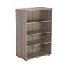 Essentials - 1200mm High Bookcase Grey Oak