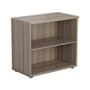 Essentials - Desk High Bookcase Grey Oak