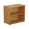 Essentials - Desk High Bookcase Oak