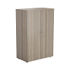 Essentials - 1200mm High Cupboard Grey Oak