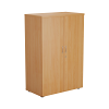 Essentials - 1200mm High Cupboard Beech
