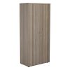 Essentials - 1800mm High Cupboard Grey Oak