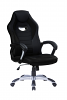Gaming Chair with Silver Base Black/Black