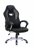 Gaming Chair with Silver Base Black/Grey