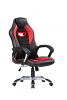 Gaming Chair with Silver Base Black/Red