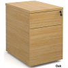 Deluxe 2 Drawer Deluxe Mobile Pedestal Maple
