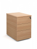 Three Drawer Deluxe Mobile Pedestal Beech