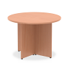 Impulse Round Meeting Table 1000 Beech