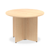 Impulse Round Meeting Table 1000 Maple