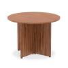 Impulse Round Meeting Table 1000 Walnut