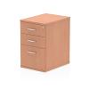 Impulse Desk High Pedestal 3 Drawer 600 Beech