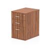 Impulse Desk High Pedestal 3 Drawer 600 Walnut