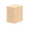 Impulse Desk High Pedestal 3 Drawer 600 Maple