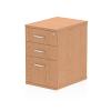 Impulse Desk High Pedestal 3 Drawer 600 Oak