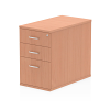 Impulse Desk High Pedestal 3 Drawer 800 Beech