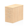 Impulse Desk High Pedestal 3 Drawer 800 Maple