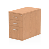 Impulse Desk High Pedestal 3 Drawer 800 Oak