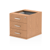Impulse Fixed Pedestal 3 Drawer Beech