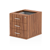 Impulse Fixed Pedestal 3 Drawer Walnut