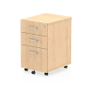 Impulse Under Desk Pedestal 3 Drawer Maple