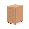 Impulse Under Desk Pedestal 3 Drawer Oak