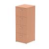 Impulse Filing Cabinet 4 Drawer Beech