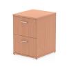 Impulse Filing Cabinet 2 Drawer Beech