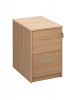 Deluxe 2 Drawer Filing Cabinet Beech