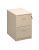 Deluxe 2 Drawer Filing Cabinet Maple