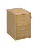 Deluxe 2 Drawer Filing Cabinet Oak