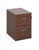 Deluxe 2 Drawer Filing Cabinet Dark Walnut