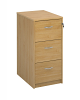 Deluxe 3 Drawer Filing Cabinet Oak