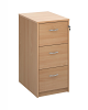 Deluxe 3 Drawer Filing Cabinet Beech
