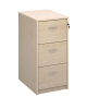 Deluxe 3 Drawer Filing Cabinet Maple