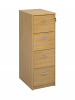 Deluxe 4 Drawer Filing Cabinet Oak