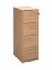 Deluxe 4 Drawer Filing Cabinet Beech
