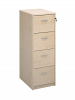 Deluxe 4 Drawer Filing Cabinet Maple
