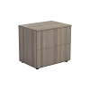 One - 2 Drawer Side Filer Grey Oak