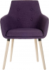 4 Legged Reception Chair plum