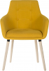 4 Legged Reception Chair yellow