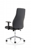 Luca Medium Back Black Bonded Leather