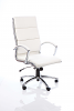 Classic Executive Chair With Arms White