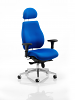 Chiro Plus Ergo Posture Chair With Headrest Blue