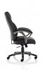 Kansas Black Faux Leather Chair
