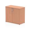 Impulse 600 Desk High Cupboard Beech