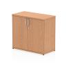 Impulse 600 Desk High Cupboard Oak