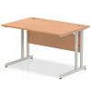 Impulse Cantilever 1200 Rectangle Desk Oak