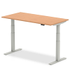 Air Height Adjustable Desk Oak