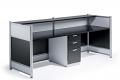Reception Desk High Gloss Black