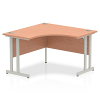 Impulse 1200 Corner Desk with Cantilever Leg Beech